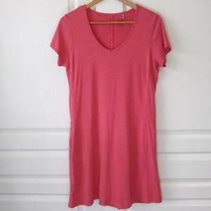 Toad&Co Marley Short Sleeve Dress Coral Pink Size M